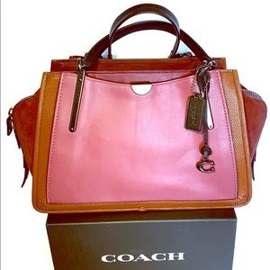Coach Dreamer 36 Mixed Leather Colorblock